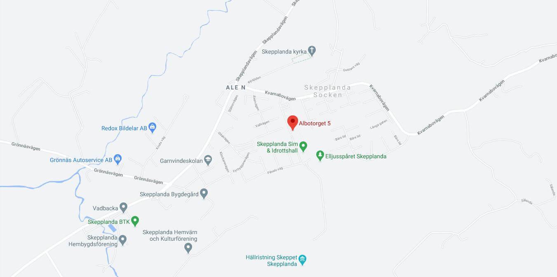Skepplanda Läkarhus karta